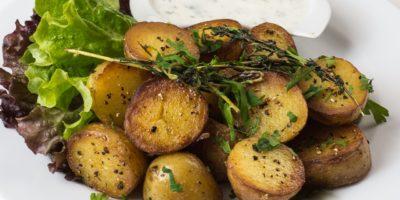 Zapečené brambory stymiánem